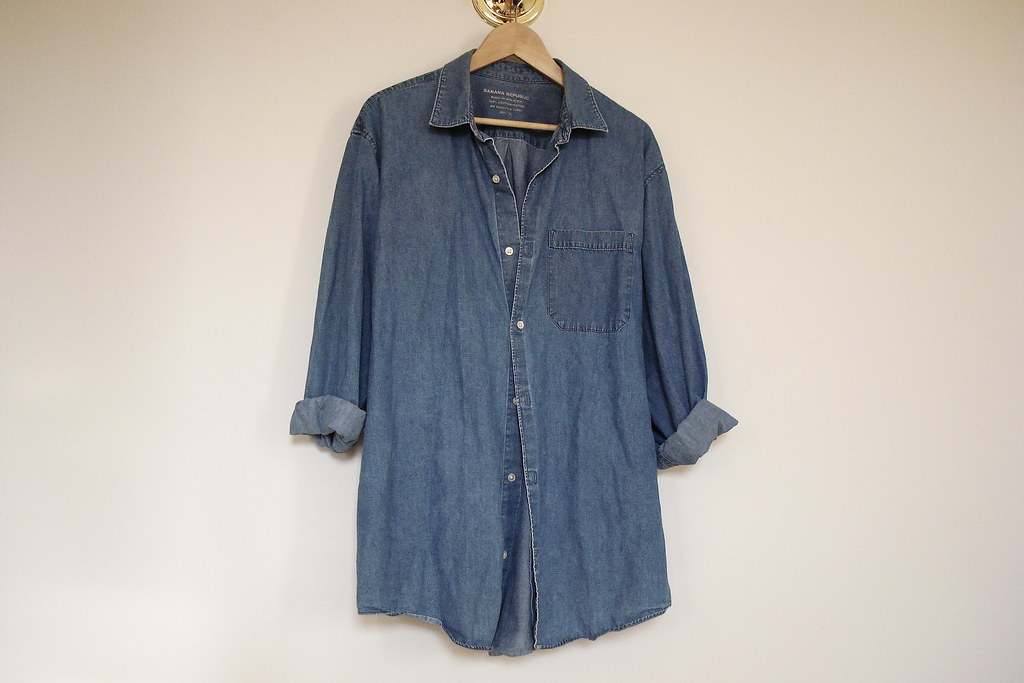vintage oversized denim shirt