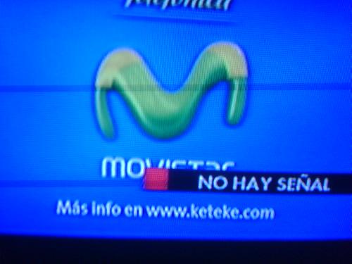 Un anuncio de Movistar diciendo q busques mas info en Keteke.com, increible! Cualquier dia  nos mandan a Moviline jajaja