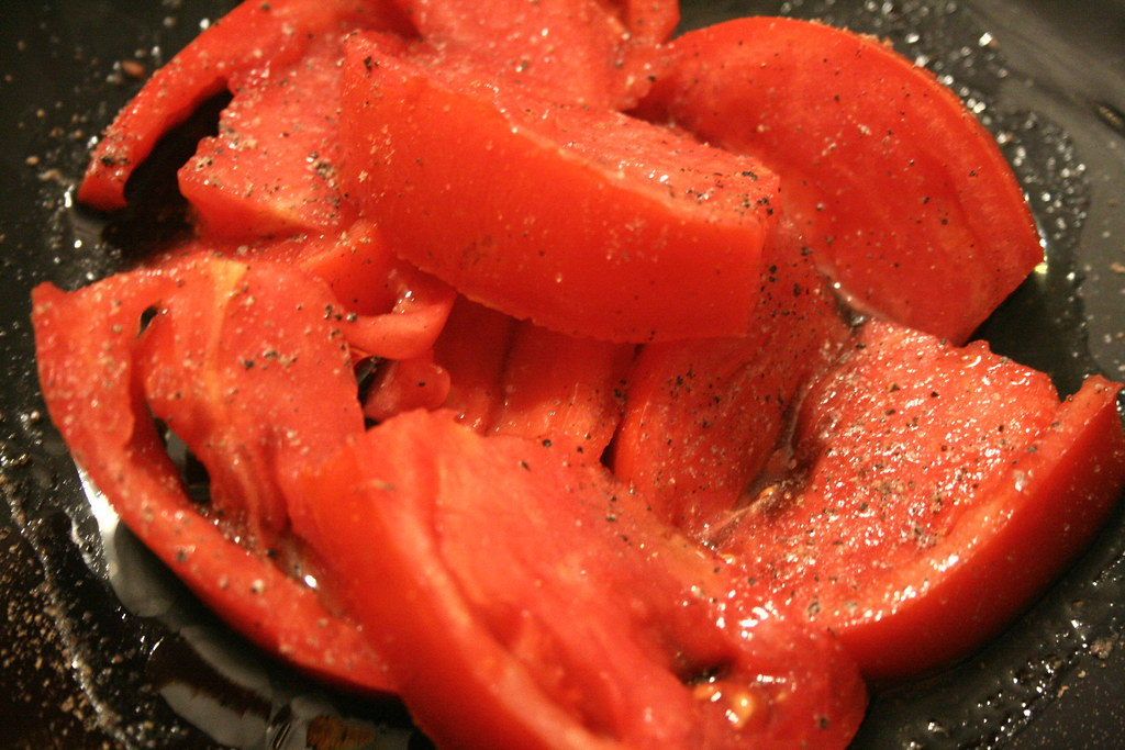 Garden Tomato in olive oil and rice vinegar