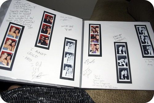 the guest book from our wedding- we had a photobooth there!