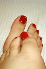 Toe On   Toe (Ravishing_In_Her_Own_Right) Tags: feet toes touching footfetish redpolish