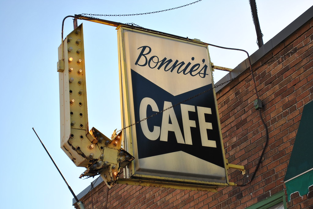 Bonnie's Cafe Vintage Sign - Minneaplois, MN