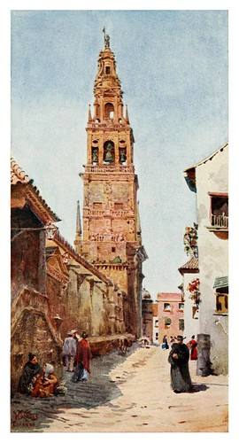 022-Córdoba- Torre del Campanario-Cathedral cities of Spain 1909- W.W Collins