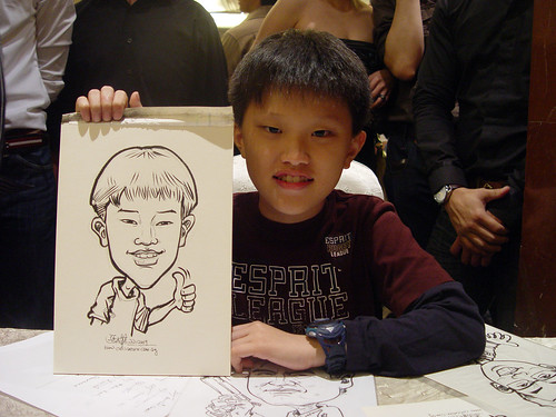 Caricature live sketching for wedding dinner 221109 - 14