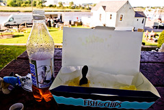 scottish dining oot (pamelaadam) Tags: summer food digital scotland meetup july fotolog 2009 irnbru fishchips dumfriesandgalloway kirkcubright thebiggestgroup tbgc185