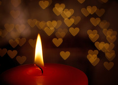 Heart lights (James Jordan) Tags: christmas holiday love home hearts candle dof heart bokeh explore supershot