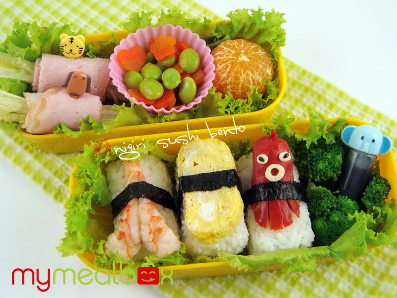 Nigiri sushi bento