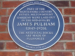 Photo of James Pulham blue plaque