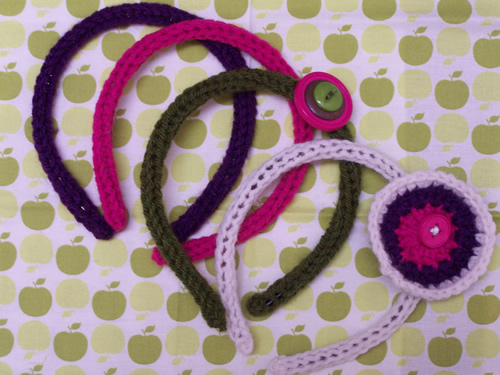 easy i-cord headbands