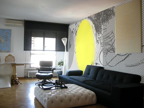 Mural vivienda particular.Colaboracion con estudio de arquitectura.2009 Madrid