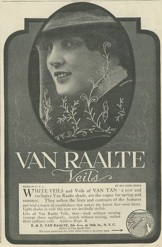 Delineator 1916 advertisement veils