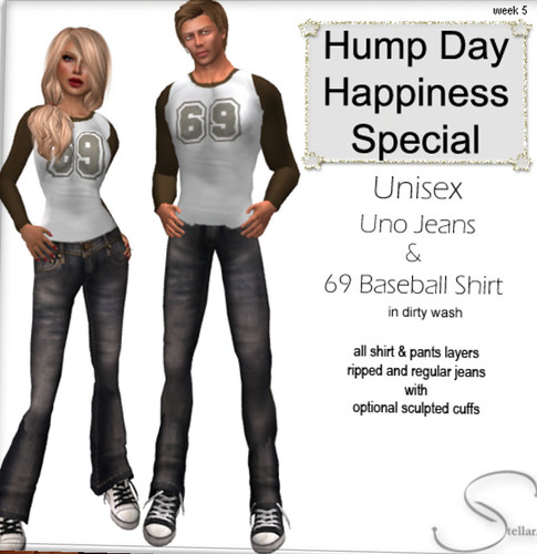 69L Stellar unisex jeans and shirt