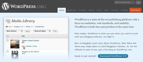 Wordpress Version 2.9