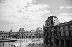 The Louvre (MTG Design Portfolio) Tags: old blackandwhite bw paris france architecture louvre dramatic landmark historic musuem parisian