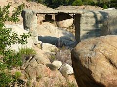Sente RG du ruisseau de Sainte-Lucie : le pont détruit IGN300 sur le ruisseau de Sainte-Lucie