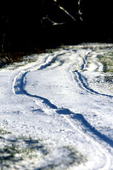 Nog wat winter (grwsh.marcel) Tags: winter white snow cold 20d nature canon frozen canon20d sneeuw tracks freezing natuur wit weiss blanc koud sporen lhiver