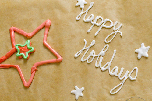 Happy Holidays Royal Icing 2