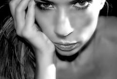 i see through you.... (nikkidelmont) Tags: bw selfportrait eyes nikon moody dramatic bold nikkidelmont