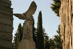 El guila (Larr) Tags: monumento cementerio burgos guila cipreses engranaje