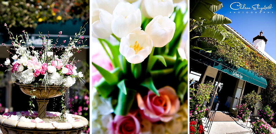 La Venta spring easter wedding details white tulips and pink roses palos verdes estates photo