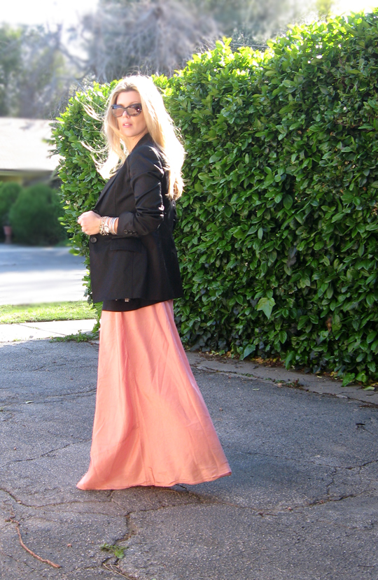 long skirt black blazer-2