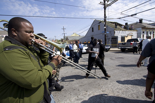 jazz funeral in Treme (by: Derek Bridges, creative commons license)