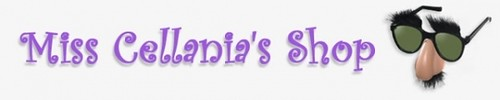 Miss Cellania shop banner