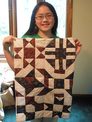 Sophia with her Quilt