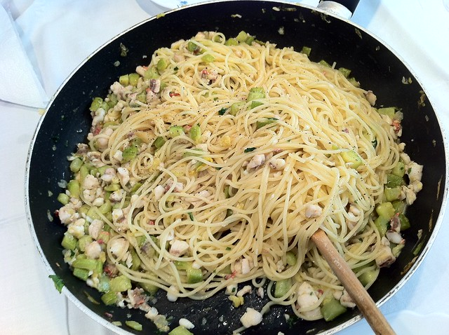 Linguine in padella