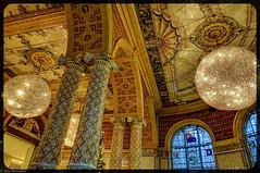 V&A cafe ceiling detail (asm_naumann) Tags: museum artnouveau jugendstil art architecture london lamp lamps light detail intricate columns va victoriaalbert victoriaandalbert victoriaalbertmuseum vamusem hdr photomatix lightroom sonyrx100iii rx100m3