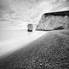 White Cliff | Study I (Marcin Flis Photography) Tags: uk long exposure canon 5d bnw nd110 cliff dorset durdle door coast seacoast sea bw filters mono monovision monochrome square pebbles stack fineart fineartlandscape seascape fineartprints