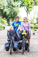 Matt and Lauren Touring Asia (Tatyana Kildisheva) Tags: cycling cyclinginasia warmshowersorg cyclist singapore cycletouring bike travel matt lauren dsc4439