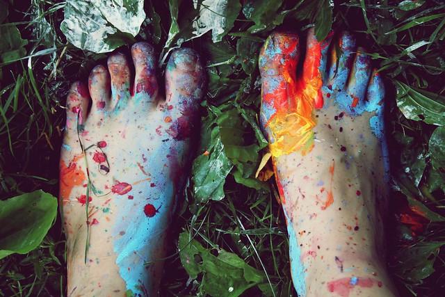 piedi colorati