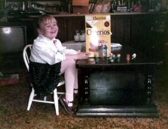 Sister with Cheerios (Click to enlarge)
