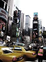 Traffic (avenue207) Tags: new york city urban building canon us traffic taxi busy