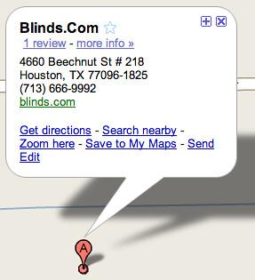 Google Maps Title