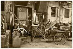 Bikes in old house (Jon T.) Tags: