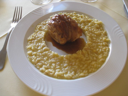 Selene - Santorini - Fava Risotto with Roasted Rabbit and Rosemary Sauce