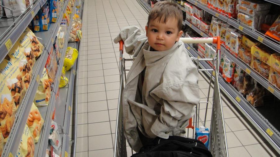 at supermarket