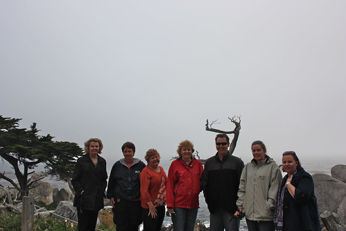 Mum, Pauline, Sue, Madonna, Mat, Kelly and Fiona at 17 Mile Drive