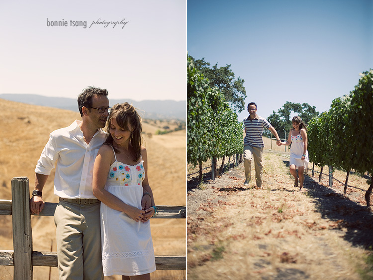 Dyan + Byrne engagement Los Olivos at Saarloos and Sons winery