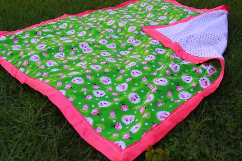 Ladybug flannel blanket