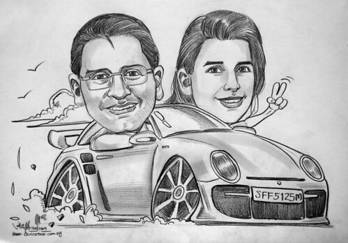Couple caricatures for FJ Benjamin