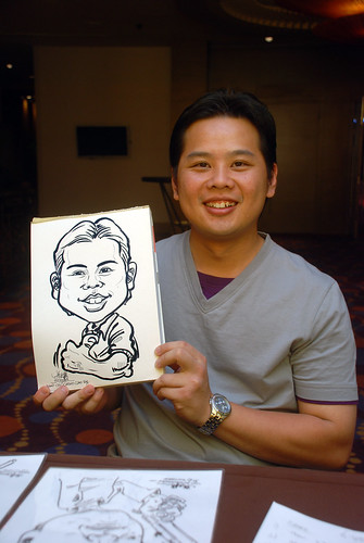 Caricature live sketching for Standard Chartered Bank - 18