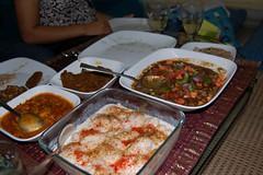 Dinner spread (Ritesh Kapur) Tags: me july neha mumbai deepa 2009 ipsita sherepunjab july252009 khoobaishki