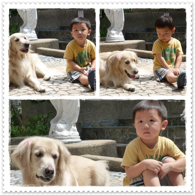 Chandler with Retriever