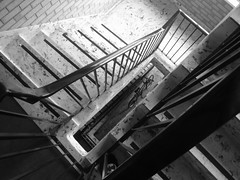 Abstract stairs (Grey Hamster) Tags: blackandwhite bw abstract stairs blackwhite 100 ricoh caplio gx gx100 ashowoff