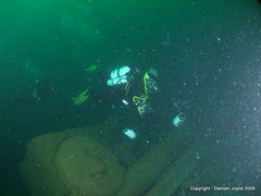 Chris on the Laurentic 2 (damoj5) Tags: inon fujif40 laurentic donegaldiving