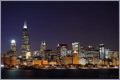 Willis Tower (Yavuz Alper) Tags: chicago tower skyline night illinois downtown loop lakemichigan willis skycrapers