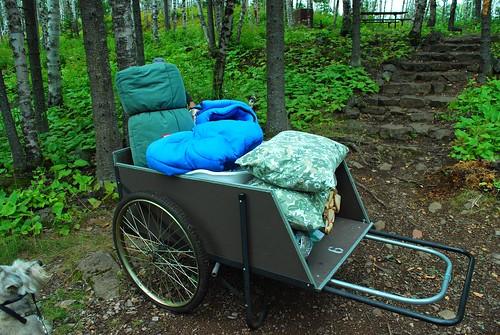 cart in camping